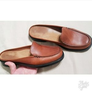 Weejuns Open Back Leather Loafers